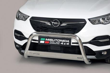 Opel Grandland X pushbar skidplate met CE / EU certificaat 63 mm