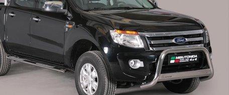 Ford Ranger 2010 tot 2015 pushbar 63 mm met CE / EU certificaat