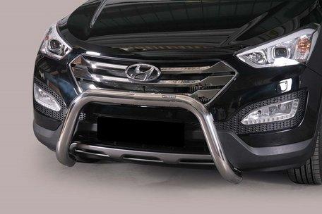 Hyundai Santa Fe 2012+ pushbar 76 mm met CE / EU certificaat