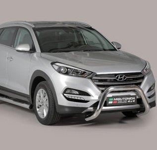 Hyundai Tucson 2015+ pushbar 76 mm met CE / EU certificaat