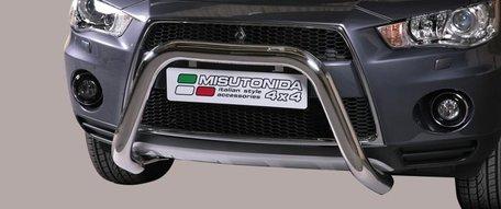 Mitsubishi Outlander 2010 tot 2012 pushbar 76 mm met CE / EU certificaat