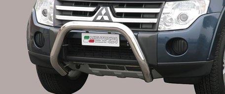 Mitsubishi Pajero 2007 tot 2011 pushbar 76 mm met CE / EU certificaat