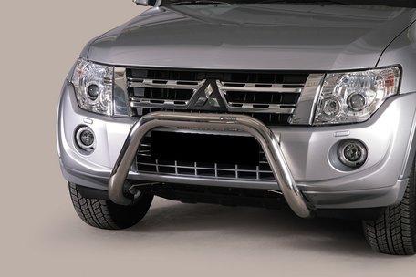 Mitsubishi Pajero 2012 tot 2014 pushbar 76 mm met CE / EU certificaat