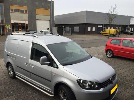 Volkswagen Caddy dakrails aluminium gebogen