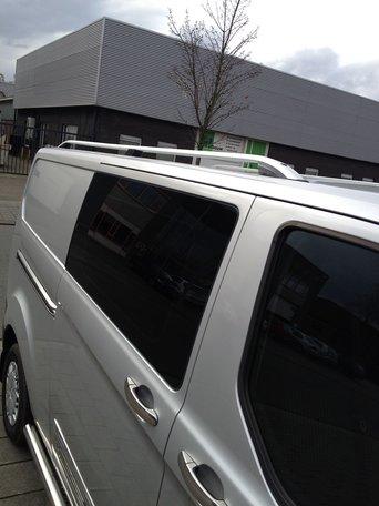 Ford Transit Custom dakrails aluminium gebogen L2