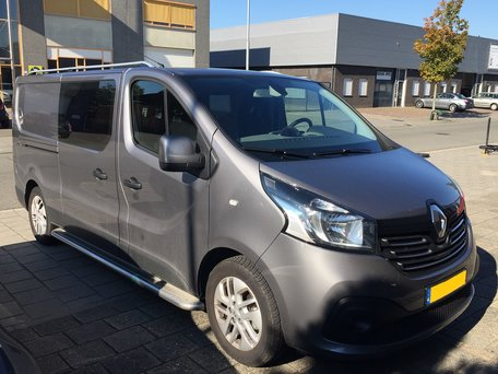 Renault Trafic 2014+ dakrails aluminium gebogen L2