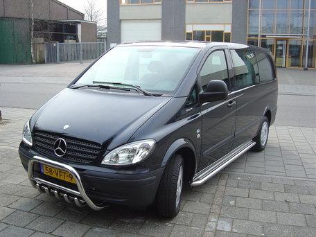 Mercedes Vito / Viano L1 / L2 sidebars 60 mm met RVS trede