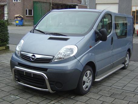 Opel Vivaro 2001 tot 2013 L2 sidebars 60 mm met RVS trede
