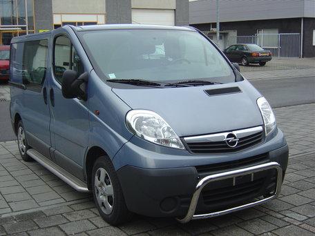 Opel Vivaro 2001 tot 2013 L1 sidebars 60 mm met RVS trede