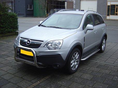 Opel Antara 2006+ sidebars 60 mm met RVS trede