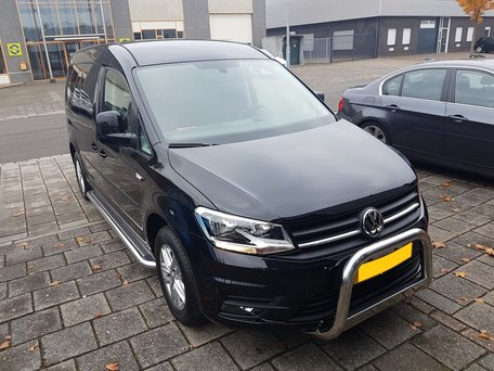 Volkswagen Caddy 2011+ sidebars 60 mm met RVS trede