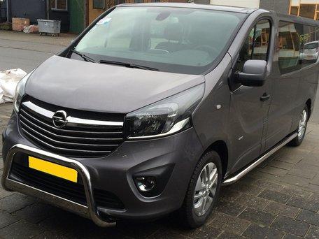 Opel Vivaro L1 2014+ sidebars 60 mm gebogen naar dorpel