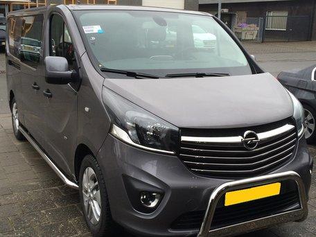 Opel Vivaro L2 2014+ sidebars 60 mm gebogen naar dorpel
