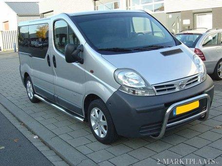 Opel Vivaro 2001 tot 2013 L2 Sidebars buis 70 mm met 3 steps