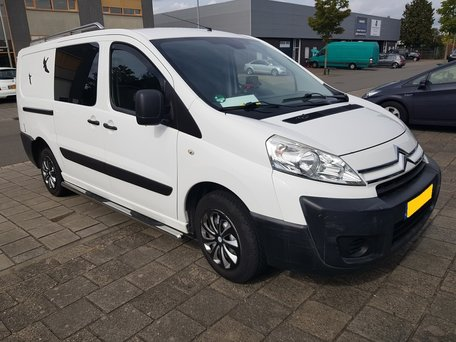 Citroen Jumpy 2006 tot 2016 L2 Sidebars buis 70 mm met 3 steps