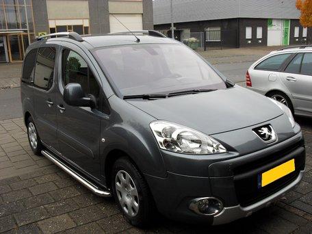 Peugeot Partner vanaf 2008 sidebars buis 60 mm met RVS trede