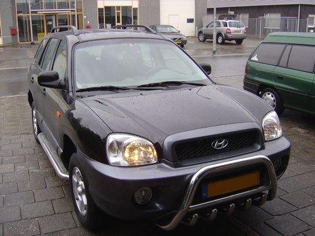 Hyundai Santa Fe tot 2006 sidebars 60 mm met RVS trede