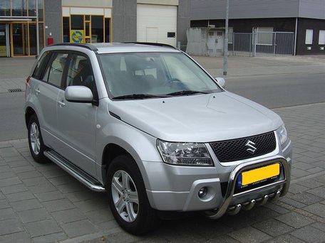 Suzuki New Grand Vitara vanaf 2006 Sidebars 60 mm met RVS trede