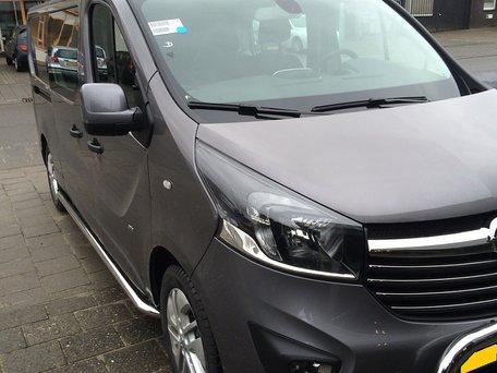 Renault Trafic 2014+ L1 sidebars gebogen naar dorpel