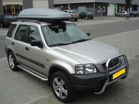 Honda CRV 1996 tot 2001 Sidebars 60 mm met RVS trede