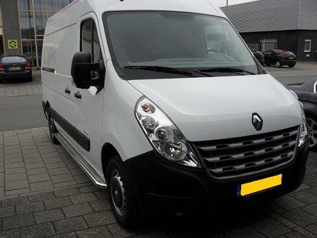Opel Movano L1 Sidebars 60 mm met RVS trede