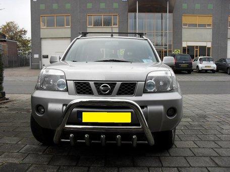 Nissan X-Trail tot 2007 Pushbar met carterbeschermer 70 mm