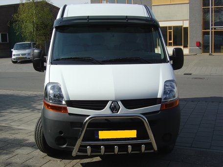 Renault Master van 2003 tot 2010 Pushbar met carterbeschermer 60 mm