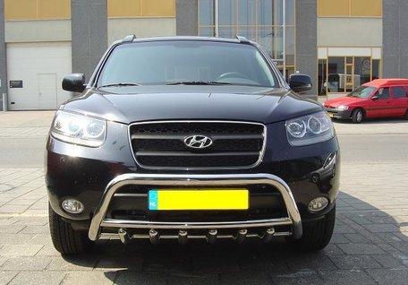 Hyundai Santa Fe van 2006 tot 2012 Pushbar met carterbeschermer 60 mm
