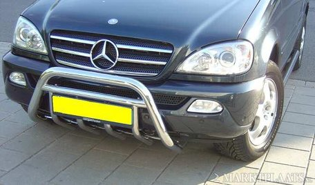Mercedes ML van 2001 tot 2005 Pushbar met carterbeschermer 60 mm