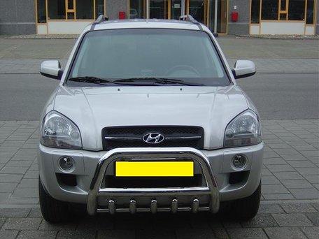 Hyundai Tucson tot 2010 Pushbar met carterbeschermer 70 mm